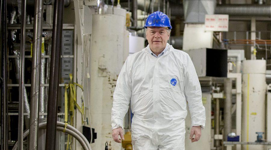 Bilde: NNDs direktør Pål Mikkelsen planlegger oppryddingen etter Norges atomvirksomhet. Foto: NND/Tom Egil Jensen